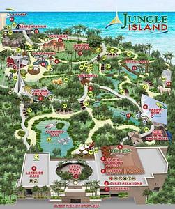 Jungle Island Miami Map