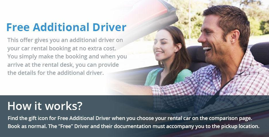 Free Additional Driver Car Hire Deal