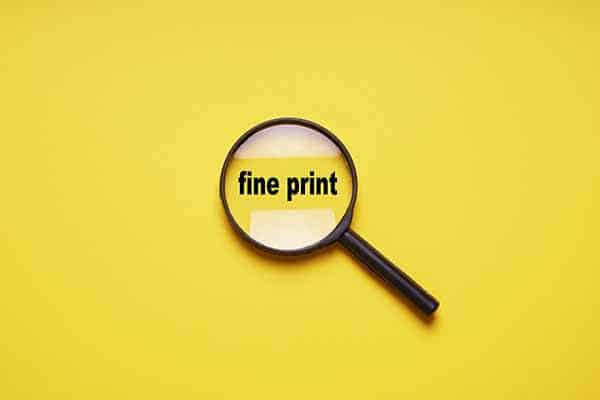 Car Rental Fine Print