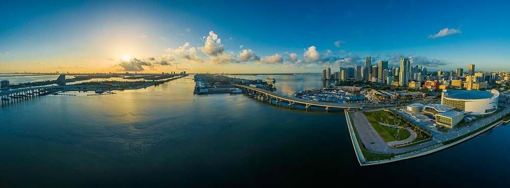 Miami panoramic photo Roadtrip from Miami to Tampa